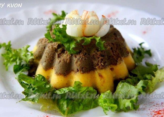 Суфле из печени в духовке рецепт с фото