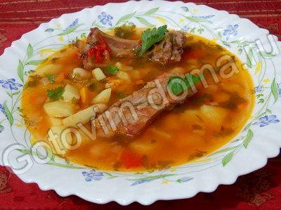 Суп с фасолью в томатном соусе рецепт с фото