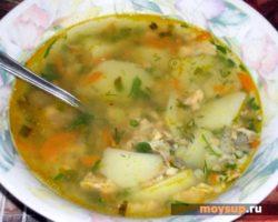 Суп с рисом и сайрой консервированной рецепт с фото