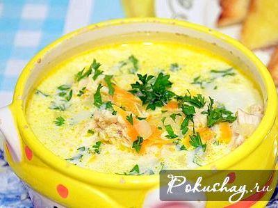 Суп с сыром плавленным и грибами рецепт с фото