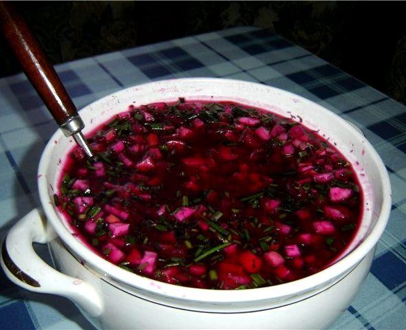 Свекла маринованная рецепт для холодного борща