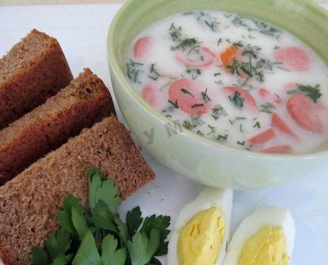 Сырный суп с плавленным сыром рецепт с колбасой