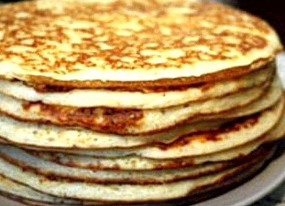 Толстые блины рецепт с фото на кефире