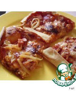Тонкое тесто без дрожжей для пиццы рецепт