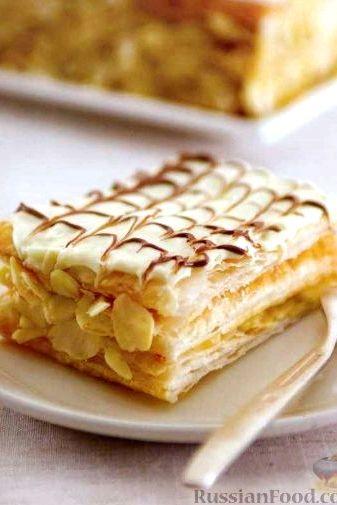Торт из слоеного теста рецепт с фото пошагово