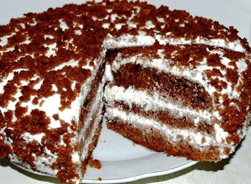 Торт на кефире рецепт черный принц с фото