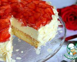 Торт с маскарпоне и клубникой рецепт с фото