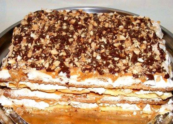 Торт сникерс пошаговый рецепт с фото с безе