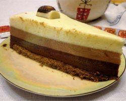 Торт три шоколада рецепт пошагово с фото