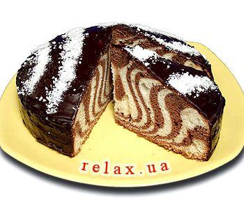 Торт зебра простой и вкусный рецепт с фото