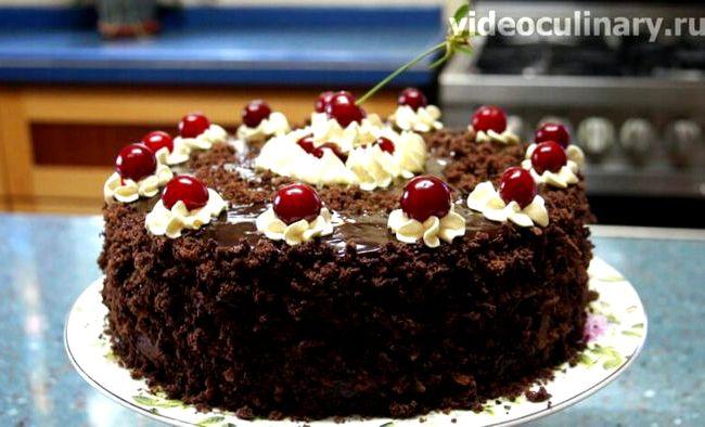 Торт зимняя вишня рецепт с фото пошагово
