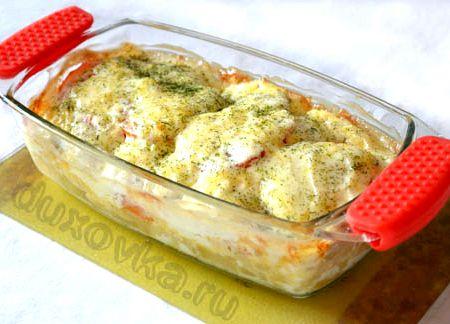 Треска запеченная в духовке с картошкой рецепт с фото