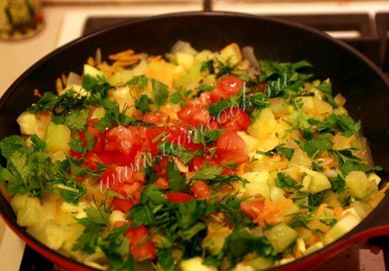 Тушёные кабачки с овощами рецепт с фото пошагово
