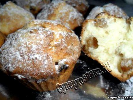 Творожный кекс с изюмом рецепт с фото пошагово