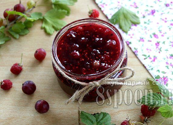 Варенье из крыжовника и малины рецепт на зиму