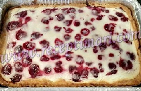 Вишнёвый пирог со сметаной рецепт с фото