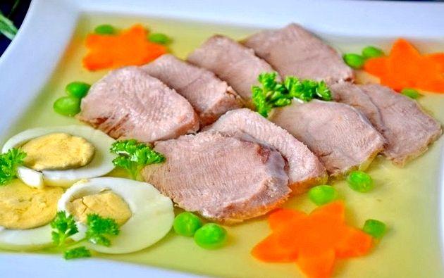 Заливное из языка говяжьего рецепт с фото