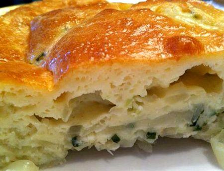 Заливной пирог на кефире с капустой рецепт
