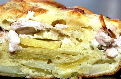 Заливной пирог с фаршем и картошкой рецепт с фото