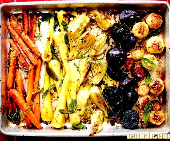 Запечь овощи в духовке рецепт с фото