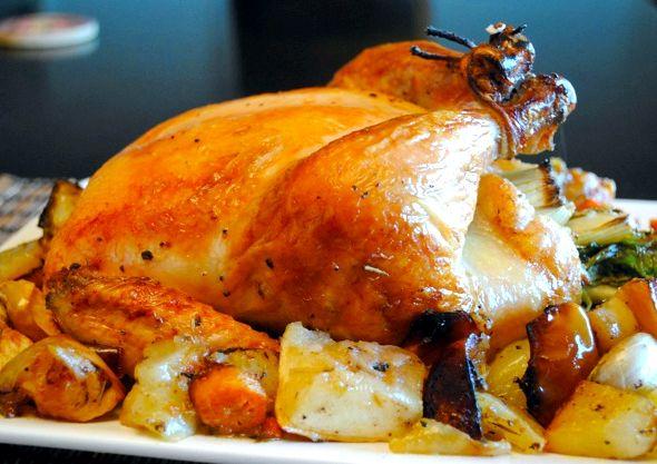 Запеченная курица в духовке целиком рецепт с фото