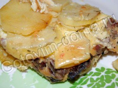 Запеканка картофельная с фаршем и грибами в духовке рецепт с фото