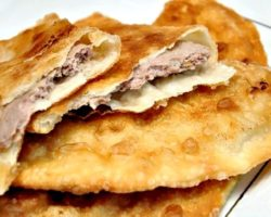 Заварное тесто для чебуреков рецепт с фото пошагово
