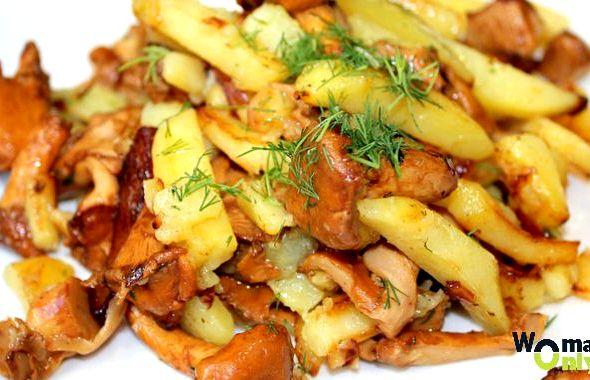 Жареная картошка с лисичками рецепт