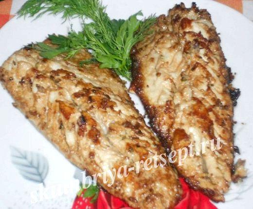 Жареная скумбрия на сковороде рецепт с фото