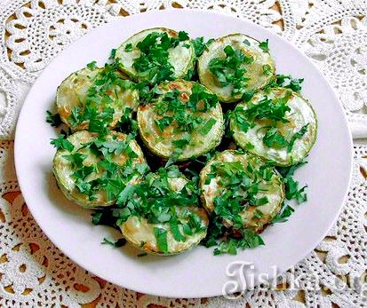 Жареные кабачки с чесноком рецепт с фото пошагово