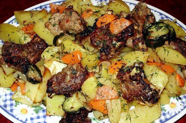 Жаркое из свинины с картошкой рецепт с фото в мультиварке