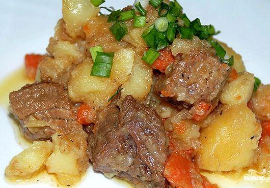 Жаркое из свинины в мультиварке с картошкой рецепт с фото