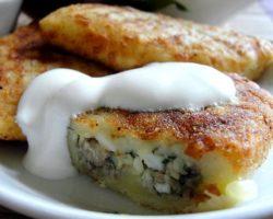 Зразы картофельные рецепт с грибами